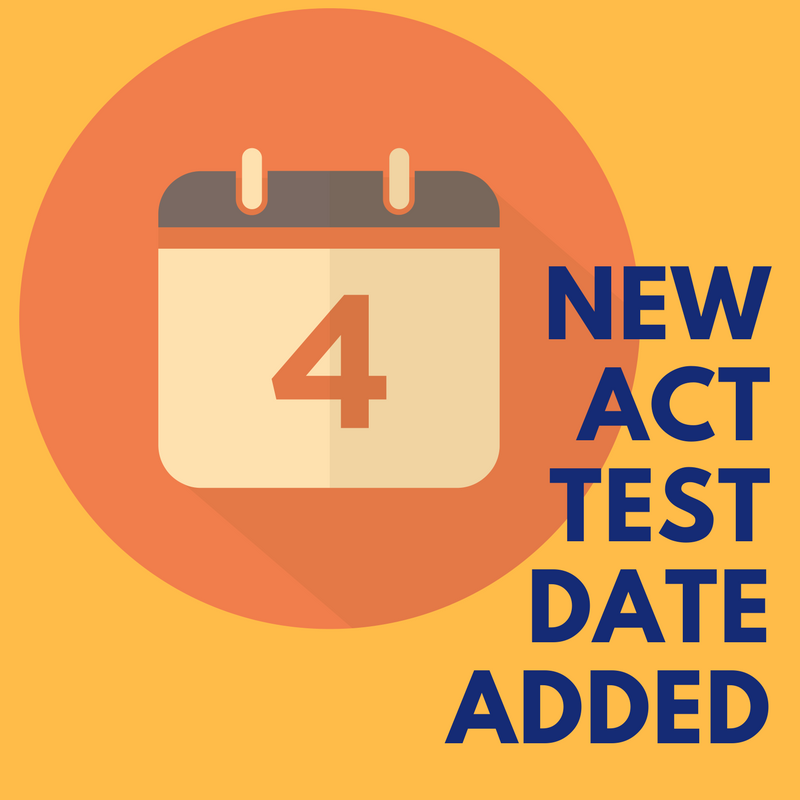 New July ACT Test Date
