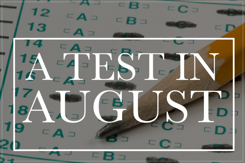 new august sat test