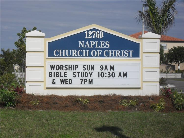 outdoor church signs