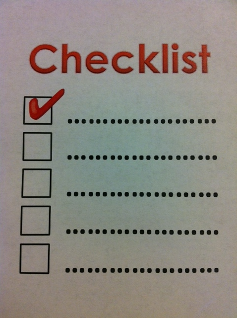clinical trial data checklist