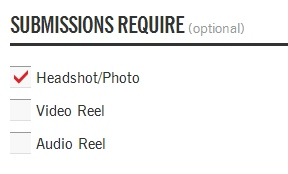 Role Options - Submission Media Requirements