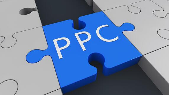 PPC on a blue puzzle piece to represent what is PPC