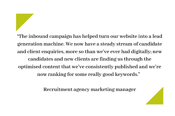 The inbound campaign has helped turn our website into a lead generation machine.