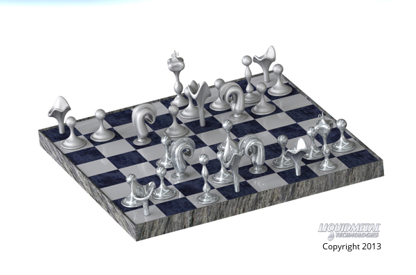 Liquidmetal Chess Game Position KvW