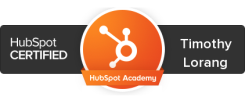 HubSpot Certified Timothy Lorang resized 245