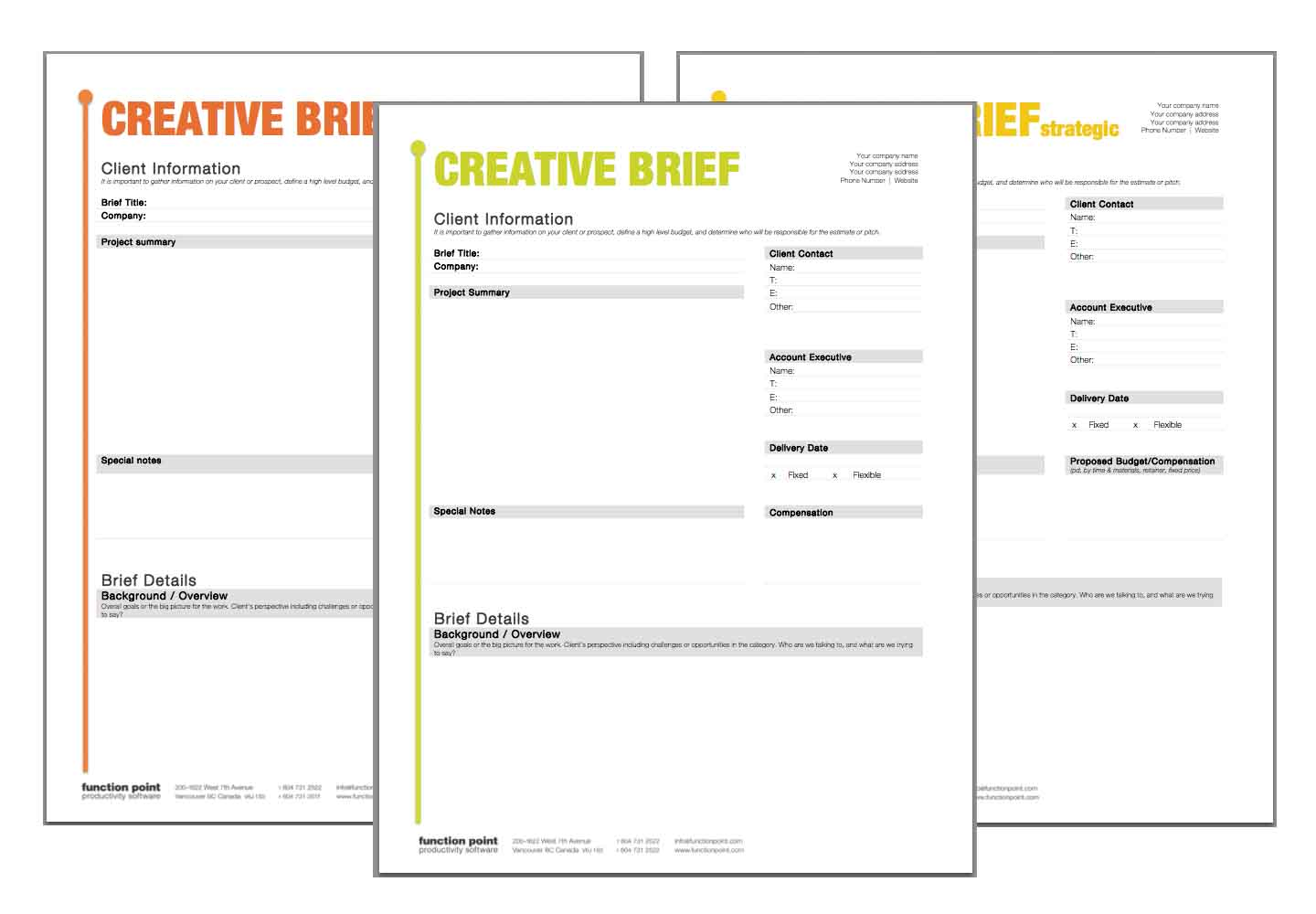 Creative Agency Project Management Template, Social Media Tracking