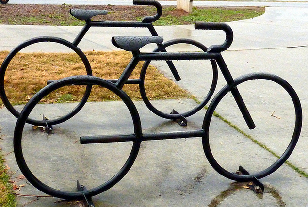 bike racks are a type of commercial site furnishing