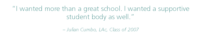 start acupuncture school this summer student body cumbo quote
