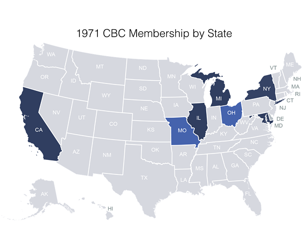 1971 CBC membership by state.
