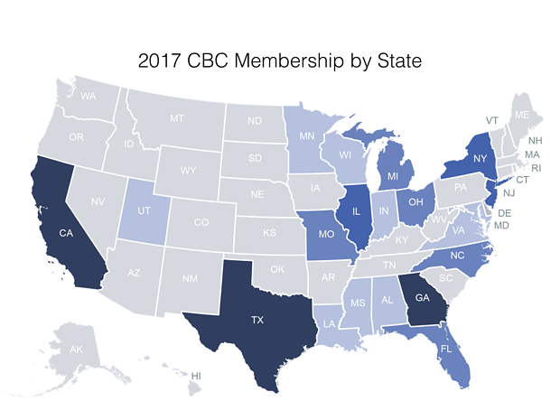 2017 CBC membership by state.