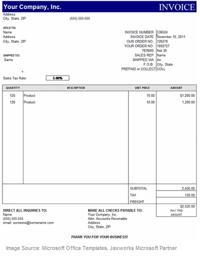 invoice for consulting services free template – notators, Invoice examples