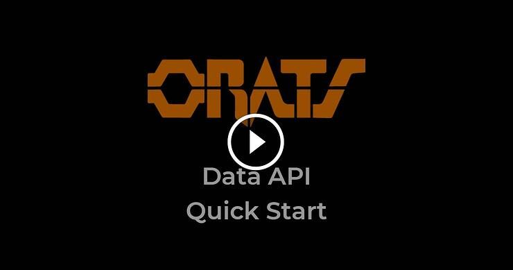 Get the ORATS Data API, Quick Start