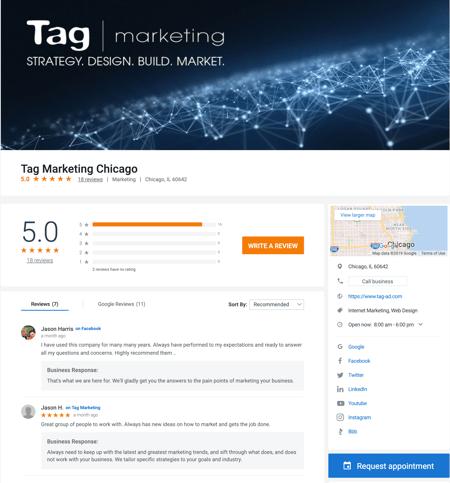 Tag Marketing Rep Management Website