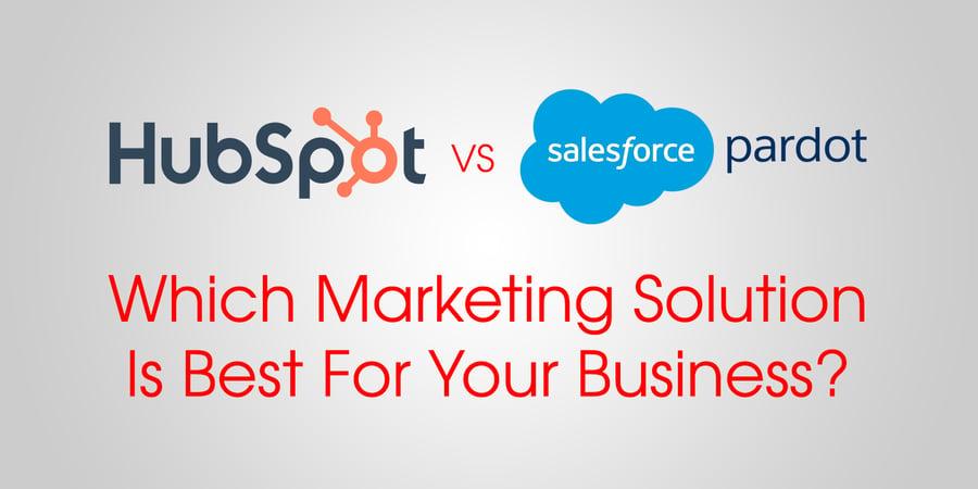 hubspot vs salesforce pardot marketing software solution comparison & review