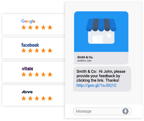 Businesses Can Generate Reviews Via Text & Email