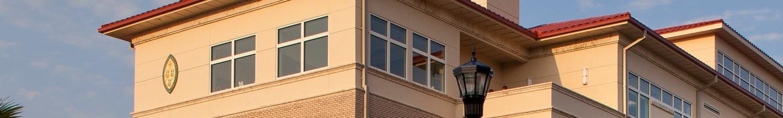 image showing top half of building on Saint Leo University's campus