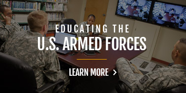 educating armed forces and veterans