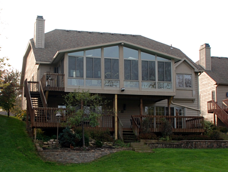 Enclose a second story deck with a sunroom for terrific views for How to build a 2nd story floor