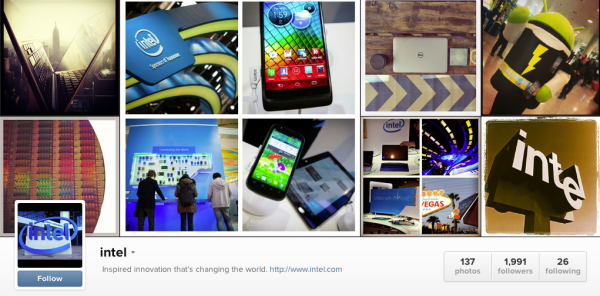 Intel Instagram for B2B
