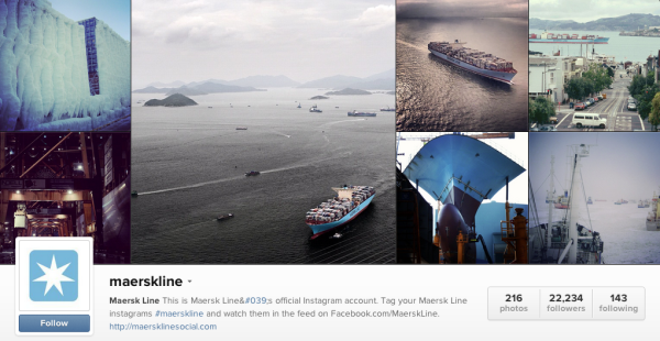 MaerskLine Instagram for B2B