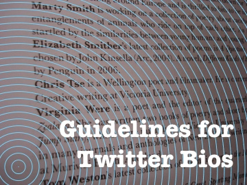 guidelines for Twitter bios