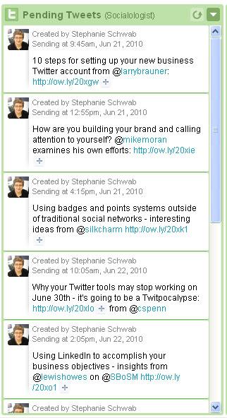 twitter editorial calendar