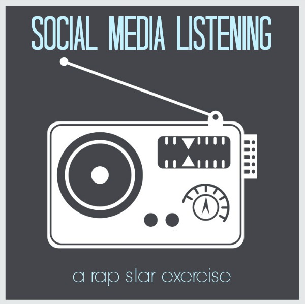 A social media listening exercise - learn like a rap star