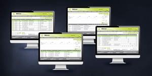 4 different timesheet screens