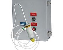 optical or ultrasonic leak detector