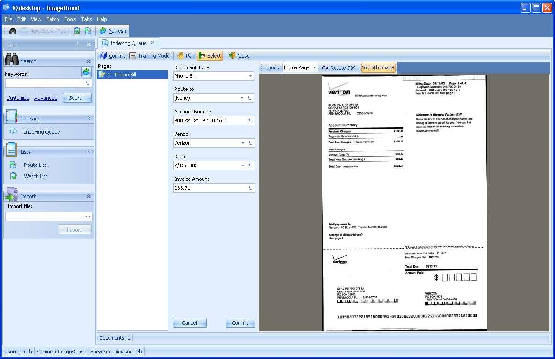Screenshots | Informa Software's IQmfp Document Management
