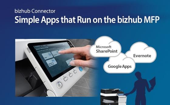 Simple Apps that Run on the bizhub MFP
