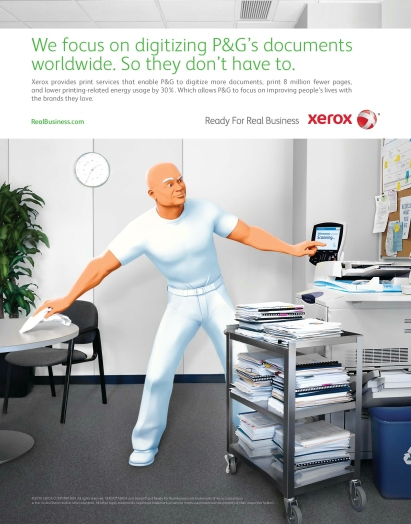 Xerox P and G Print Ad