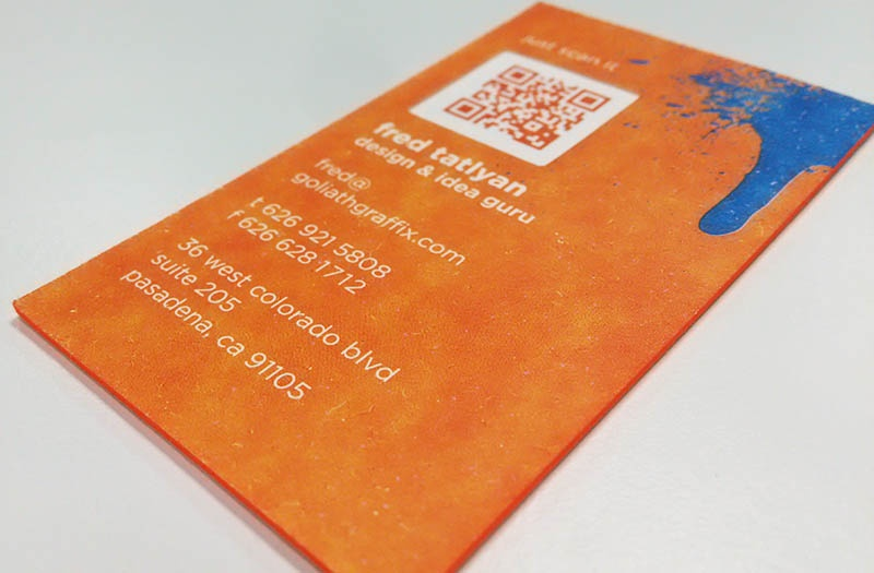 Business Card Design With QR Code