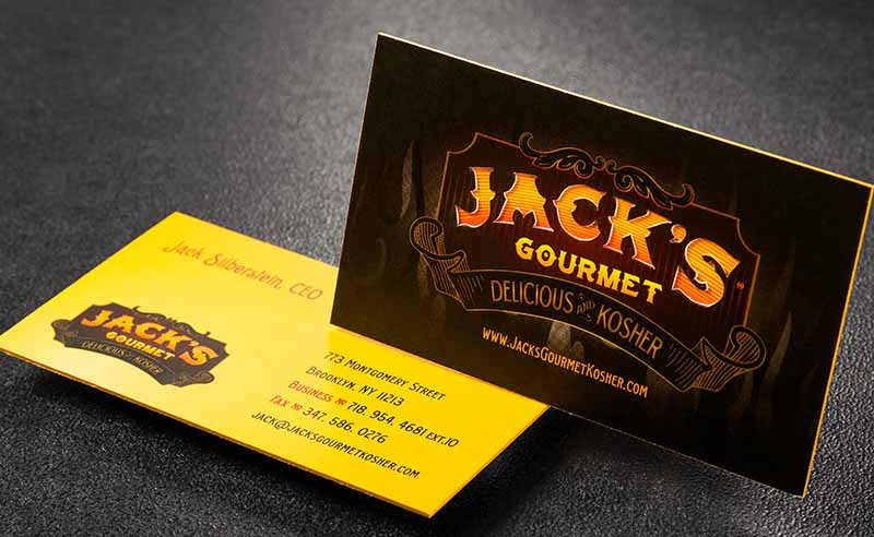 thick die-cut gourmet kitchen business card