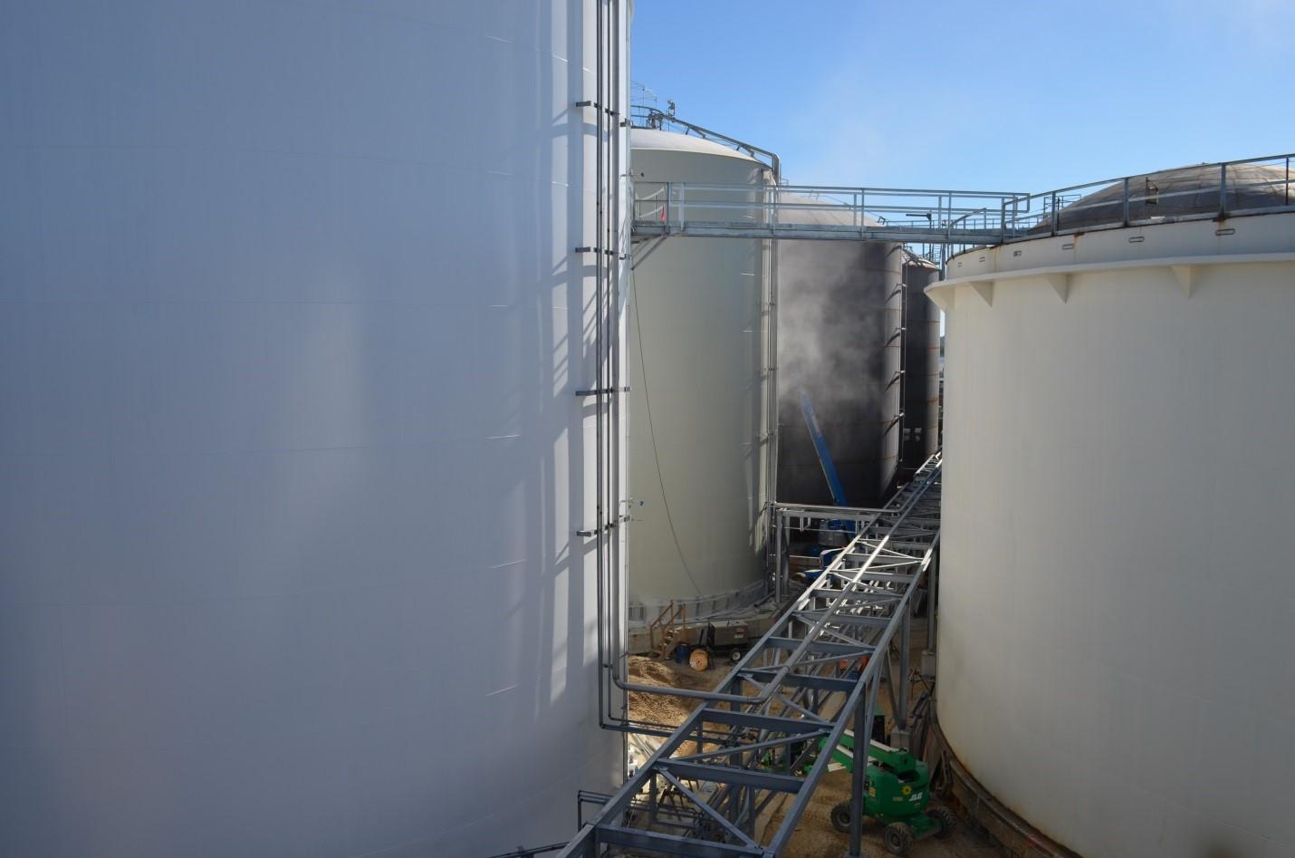 welded steel tanks, aboveground tanks, API, field erected tanks, terminal tanks
