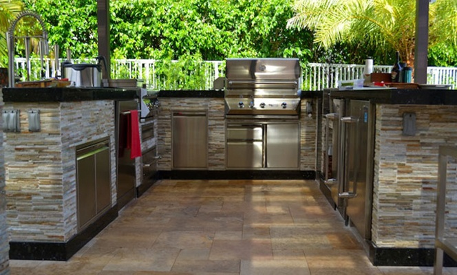 outdoor kitchen in baton rouge