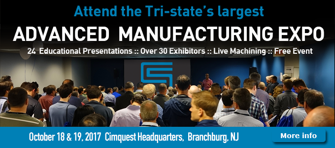 Cimquest cordially invites you to our annual Advanced Manufacturing Expo and Open House, to be held at Cimquest's Branchburg, NJ Headquarters on October 18 & 19, 2017.