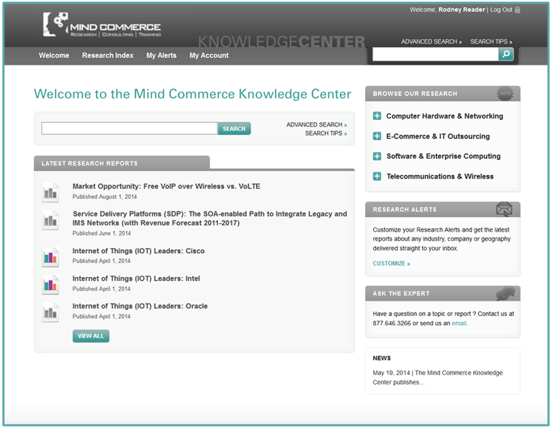 Mind Commerce Knowledge Center Insights