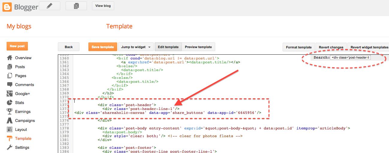 blogger-install-code