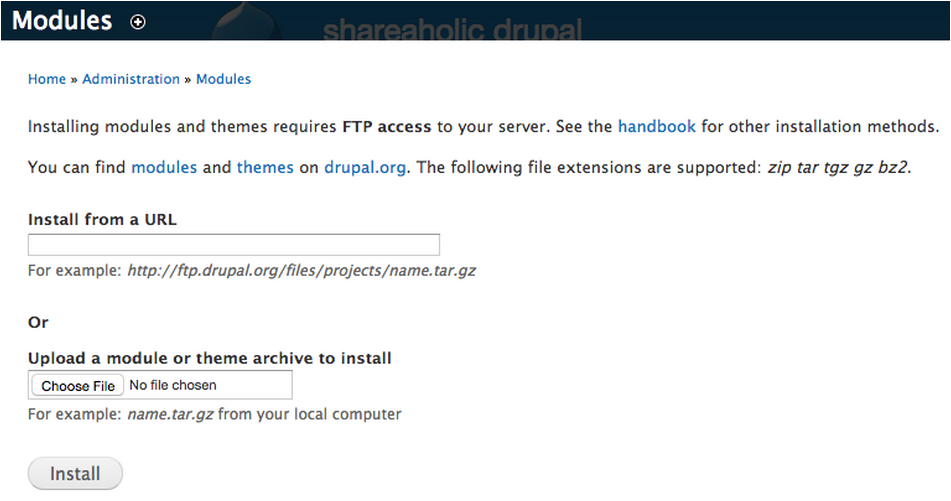 Installing Shareaholic on Drupal – Shareaholic Helpdesk