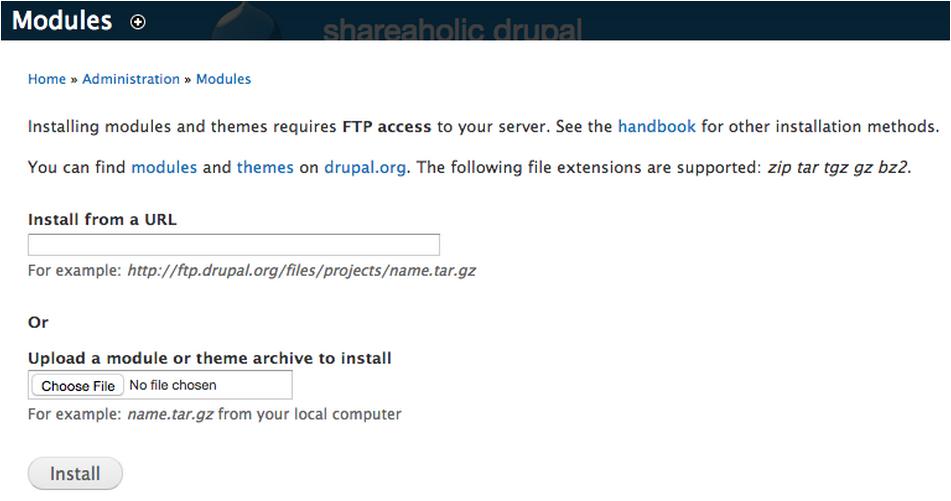 Drupal_Modules_Page