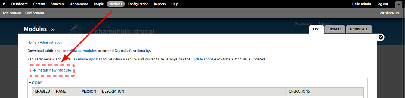 Drupal_install_new_module
