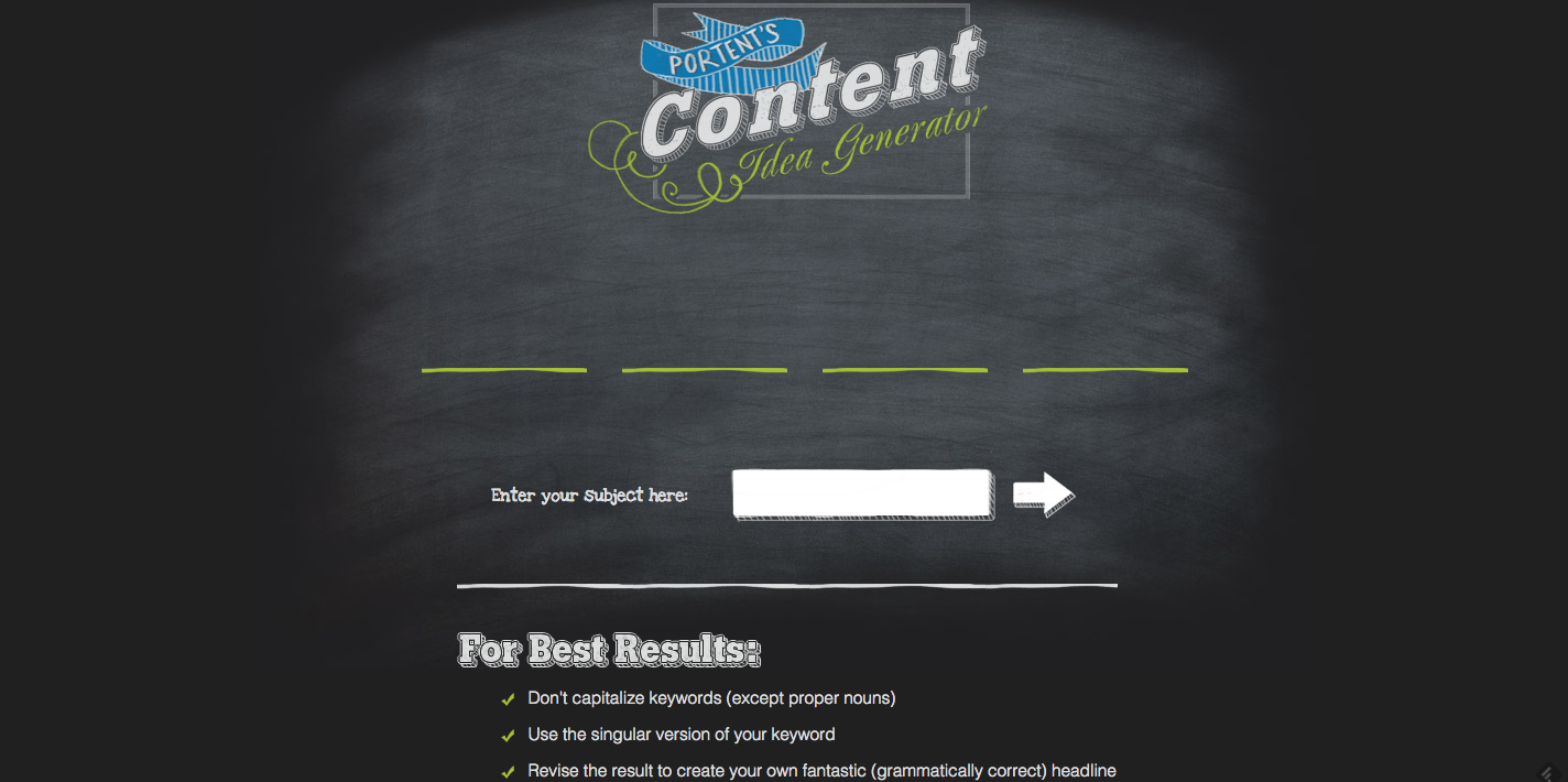 Blog title generator 10 best free tools for Portent title maker