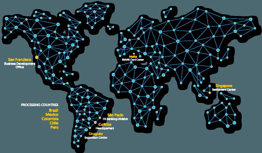 EBANX Around The World