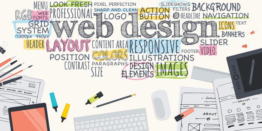 several words written on paper depicting custom financial advisor website design
