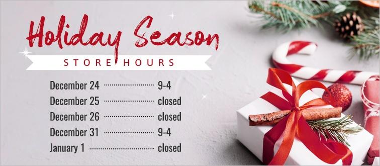 Holiday Season Store Hours