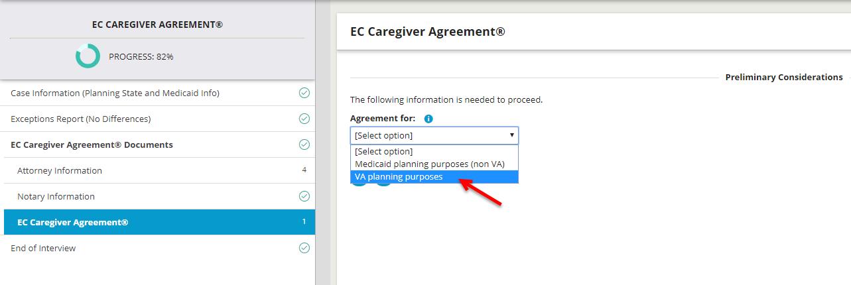 va planning purposes caregiver agreement