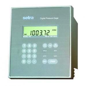 FAA Approved Setra Model 370 Digital Pressure Gauge used in DASI system