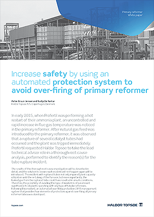 Increase safety by using an automated protection system to avoid over-firing of primary reformer