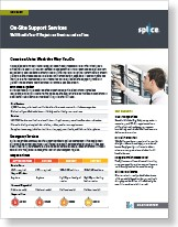 On-site Support data sheet